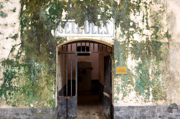 Entrance to prison cells on Îles du Salut.