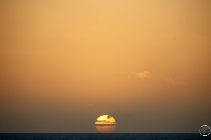 A perfect east coast sunset on Bonaire.