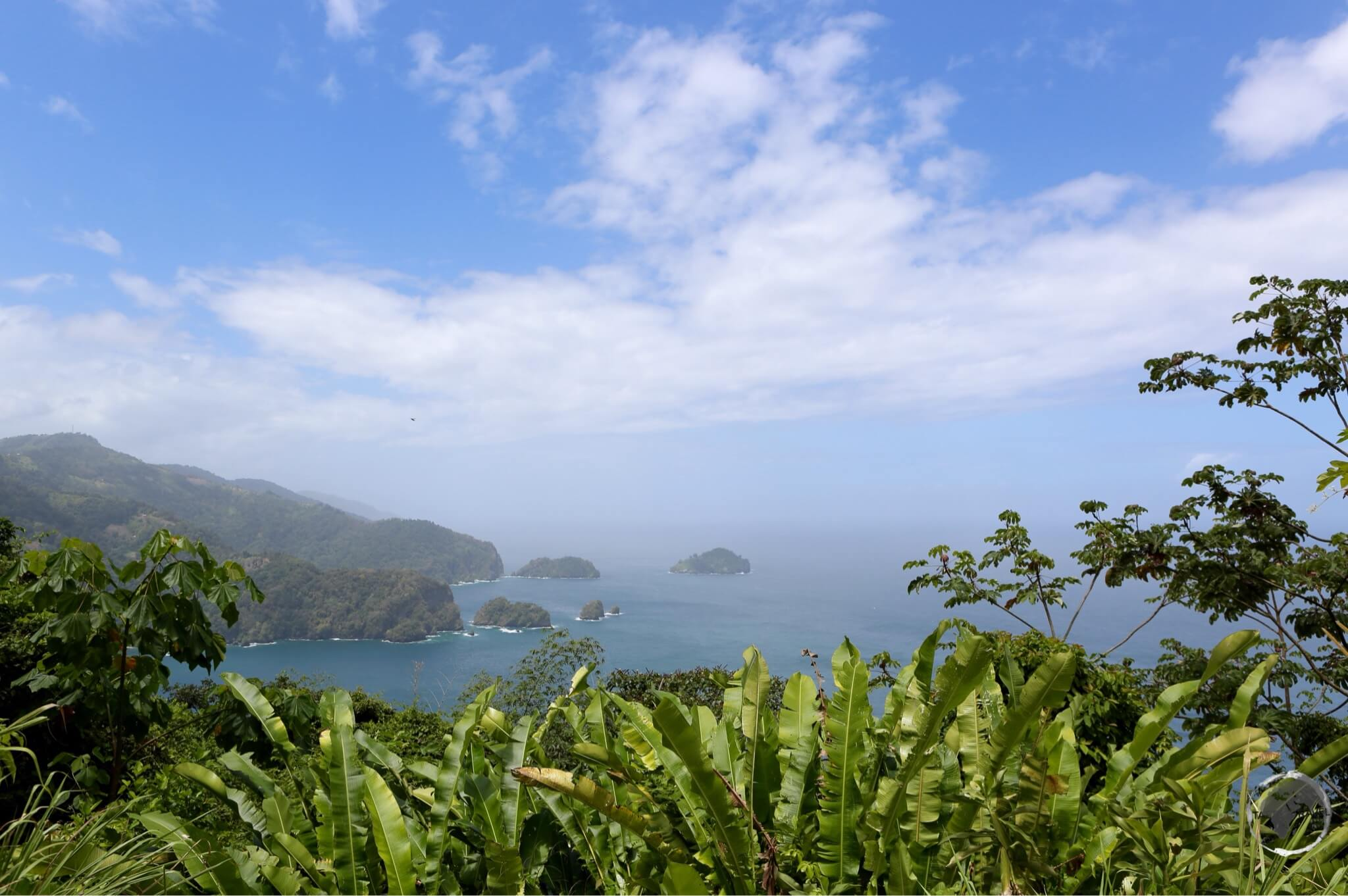 North coast of Trinidad from Maracas lookout.