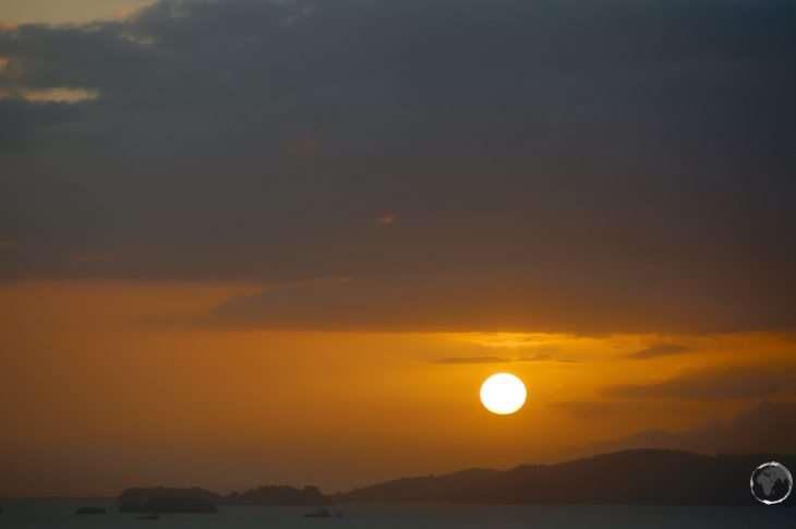Sunset over Port-of-Spain