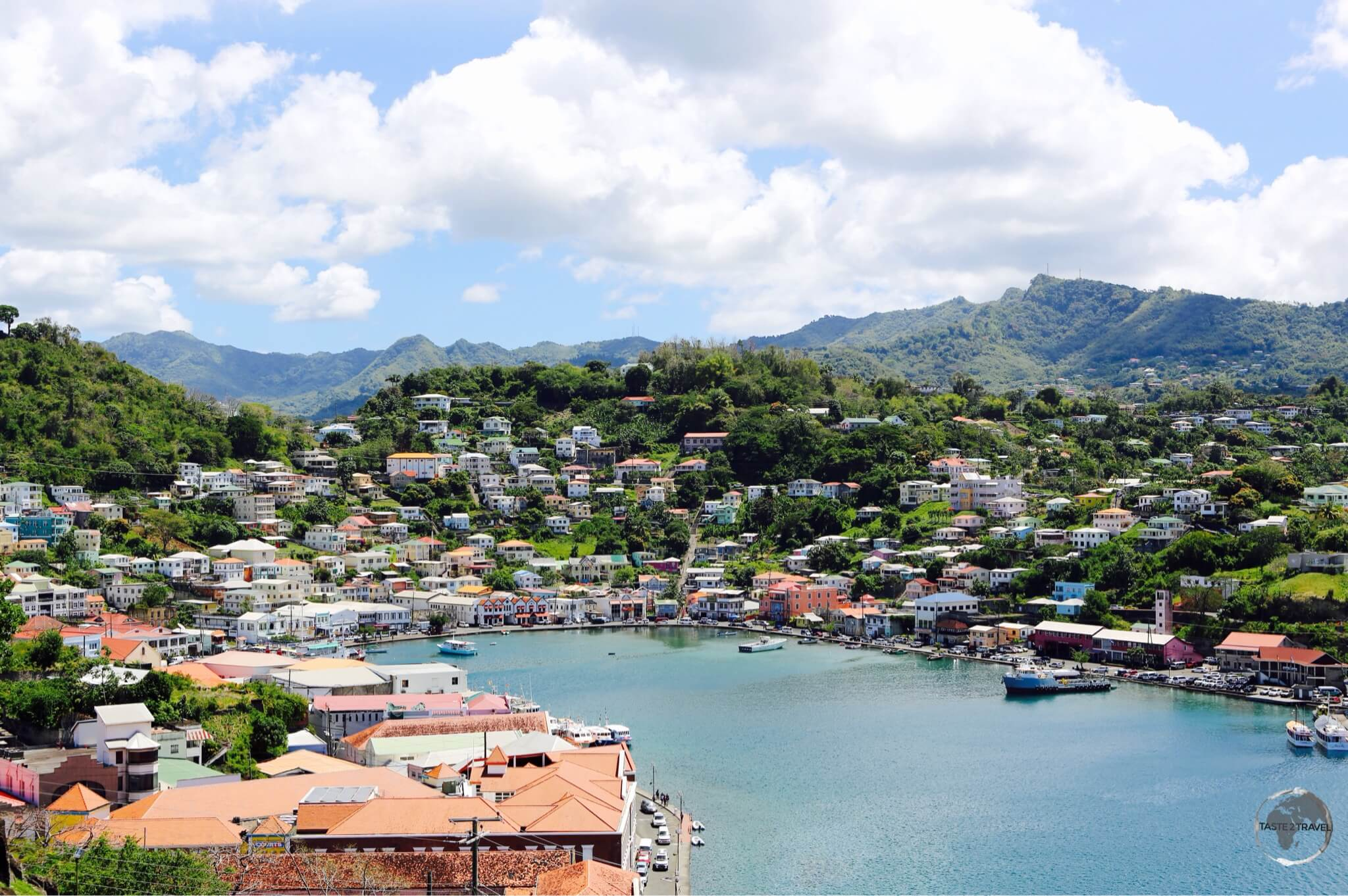 View of St. Georges, the capital of Grenada.