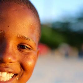A big smile at Grand Anse Beach.