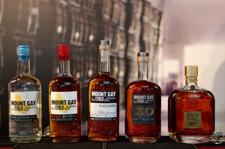 Mount Gay rum selection, Barbados.
