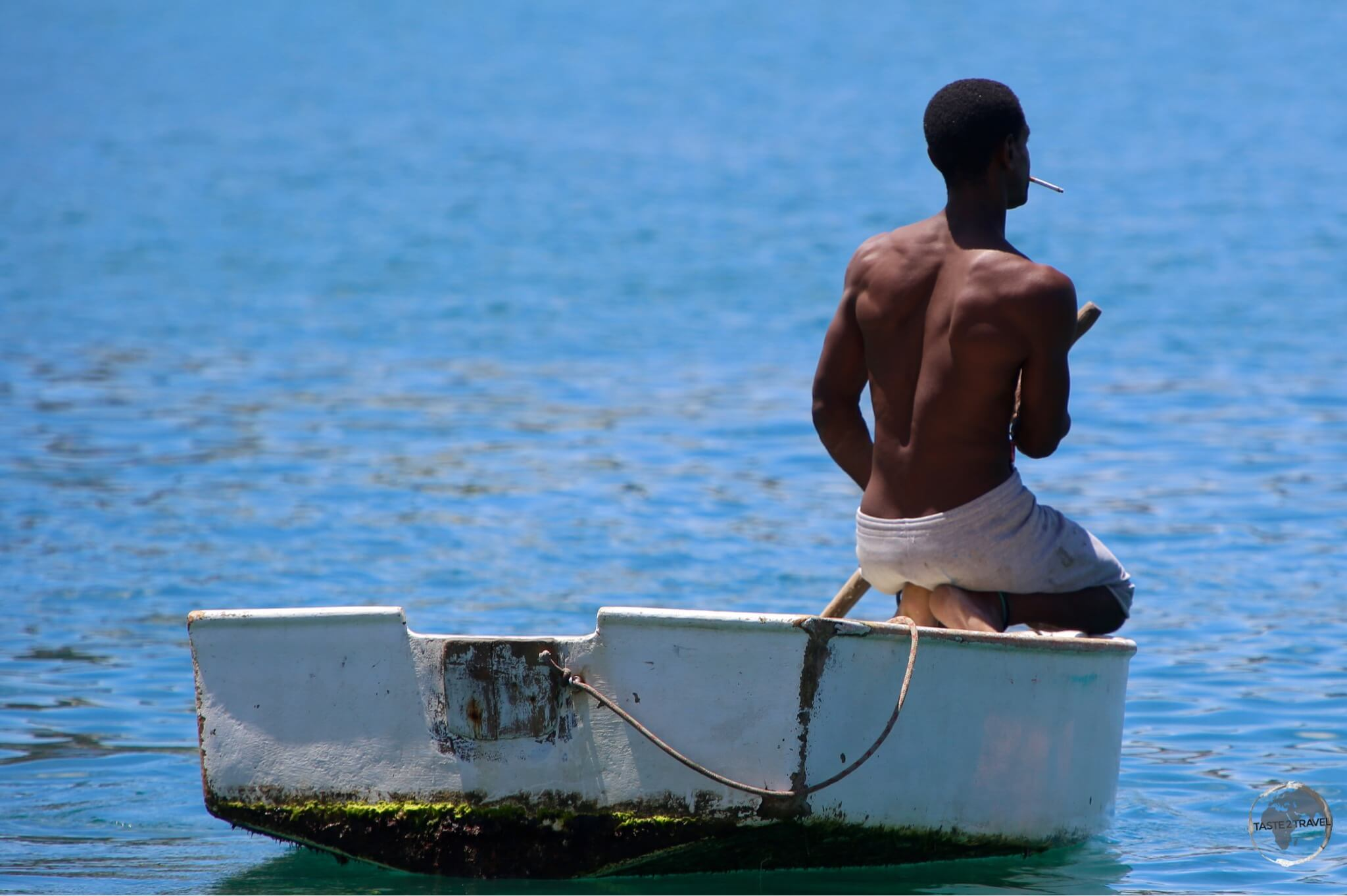 Fisherman in St. Georges harbour.