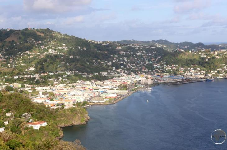 View of Kingstown, the capital of St. Vincent and the Grenadines, from Fort Charlotte.