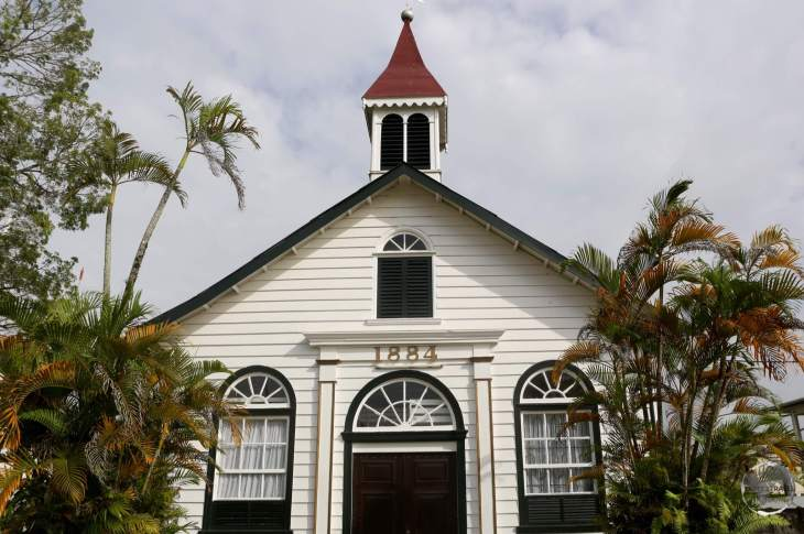 Historic Dutch church in Paramaribo.
