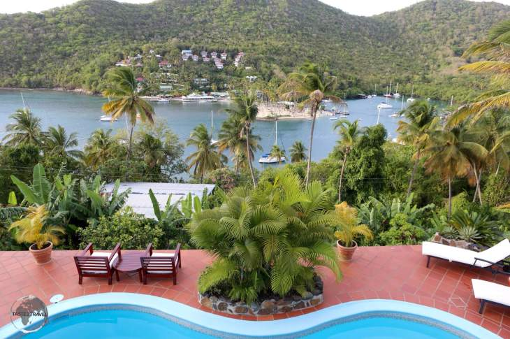 Saint Lucia Travel Guide: View of Marigot Bay from my guest house