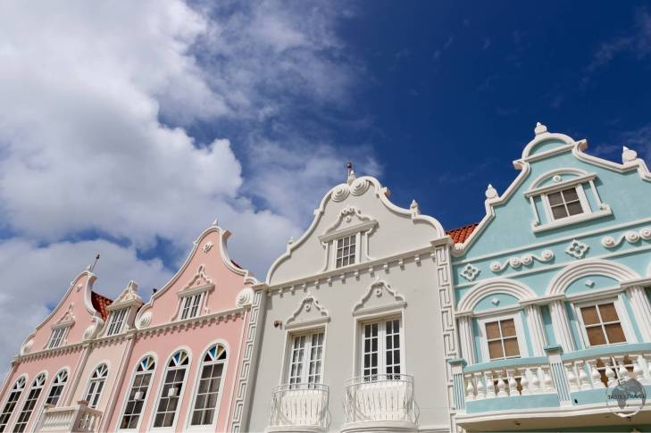 Dutch-style architecture in Oranjestad.