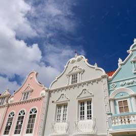 Dutch-style architecture in Oranjestad, Aruba.
