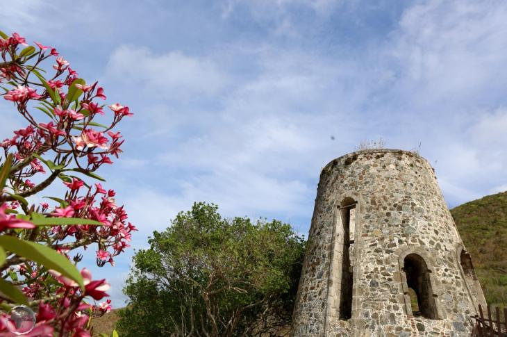 A ruined windmill at the Annaberg Sugar Plantation on St. John.