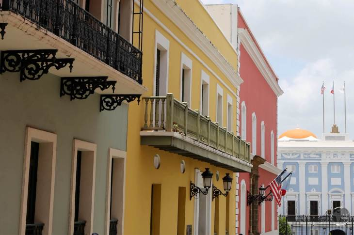 The colourful and historic old town of San Juan has been beautifully restored.