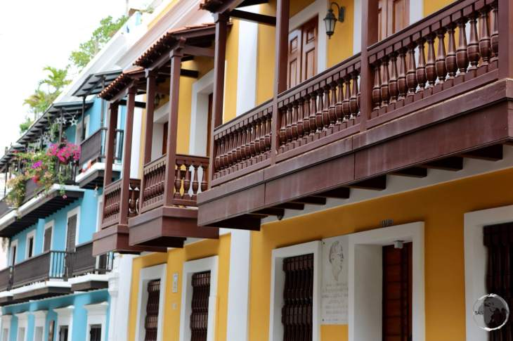 Colourful houses line the streets of old San Juan.