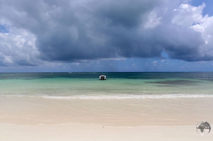 Stormy skies over the beach at Las Terrenas