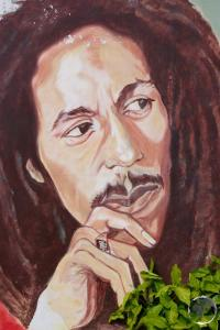 Bob Marley tribute in Kingston
