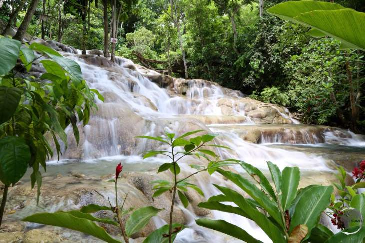 The incredible refreshing - Dunn's river falls.