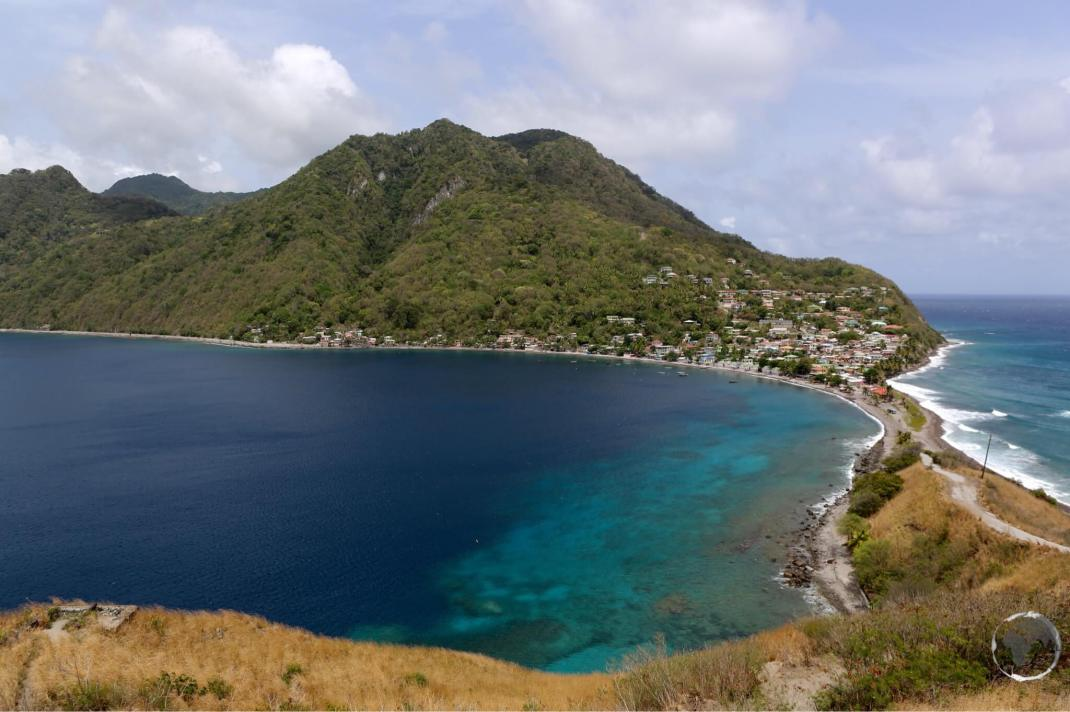 A view of Dominica from Scott's Head.