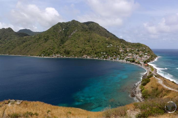 The view of the southern part of Dominica from Scotts Head.