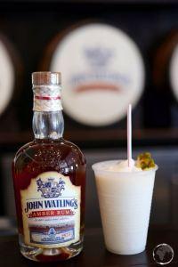 Pina Colada sampler at John Waitlings rum distillery.