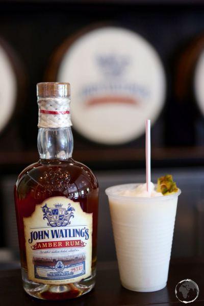 Pina Colada sampler at John Watlings rum distillery.