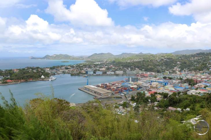 A view of the capital, Castries, from Morne Fortune.