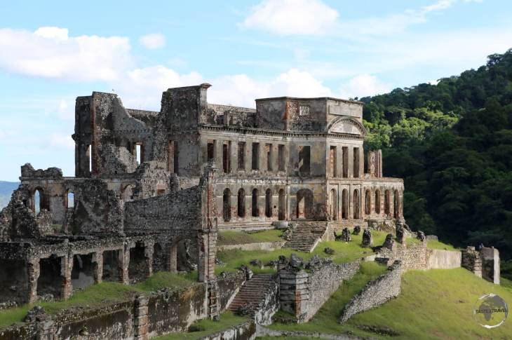 The ruined, Sans-Souci palace, which is located in the town of Milot.