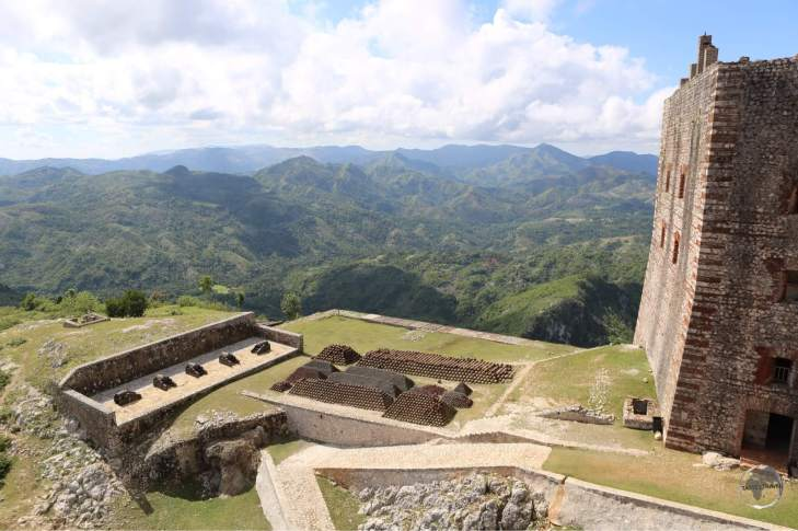 Panoramic views from Citadelle Laferrière. The climb to the top of this mountain in the sweltering heat is a great workout.