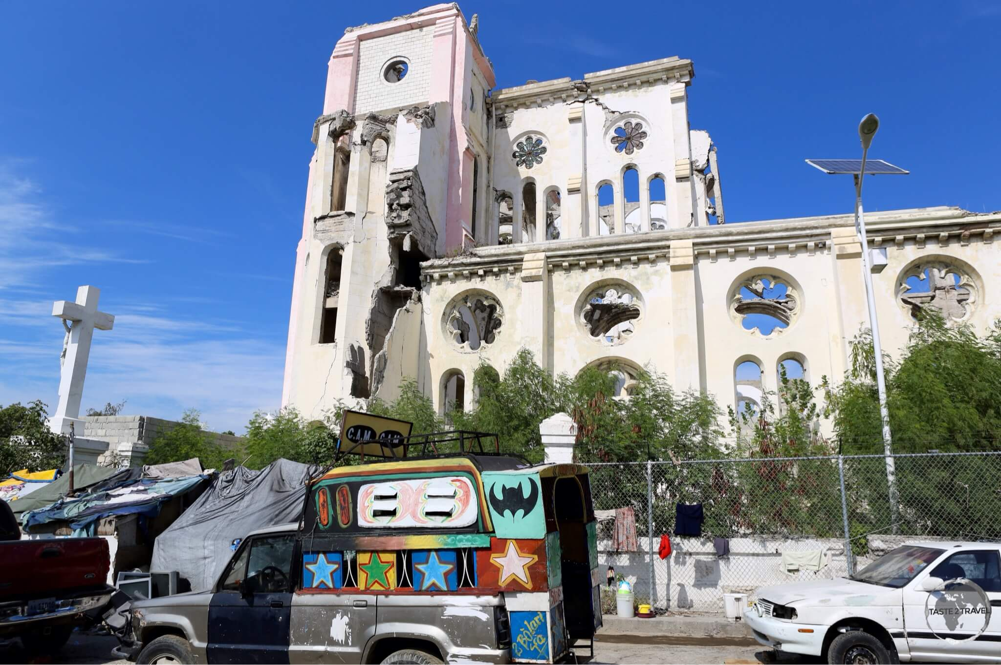 Ruined Cathedral of Our Lady of the Assumption in Port-au-Prince.