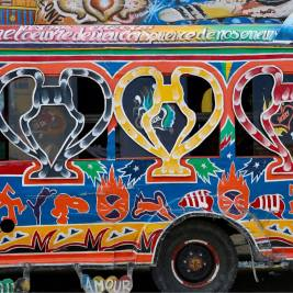 Haiti Travel Guide: Bus in Port-au-Prince