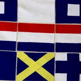English naval flags at Nelson's Dockyard, Antigua.
