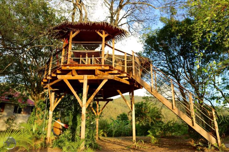 Tree House accommodation at Habitation Getz.