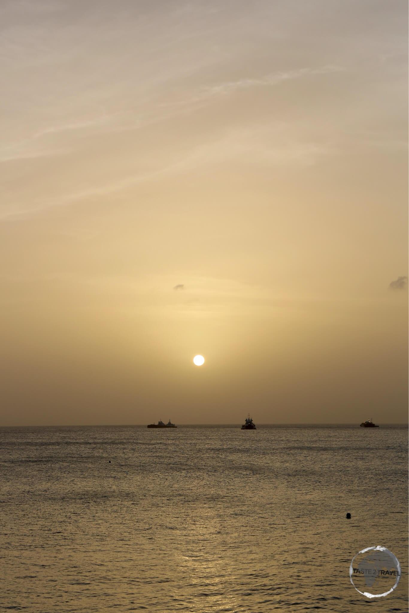 Sunset on Statia.