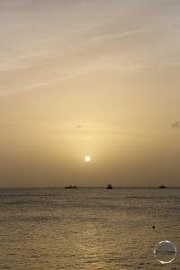 Sunset on Statia