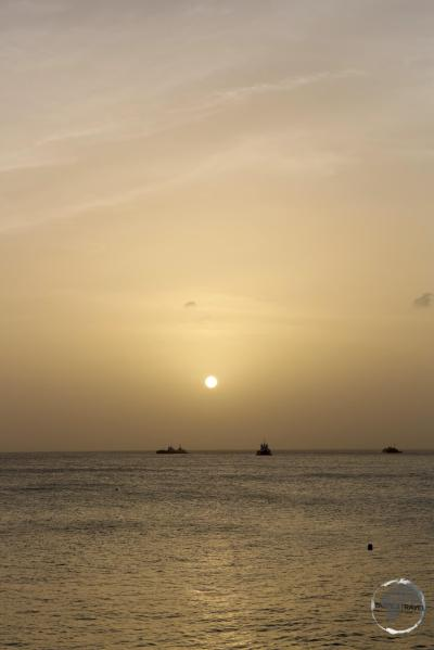 Sunset from Oranjestad beach.