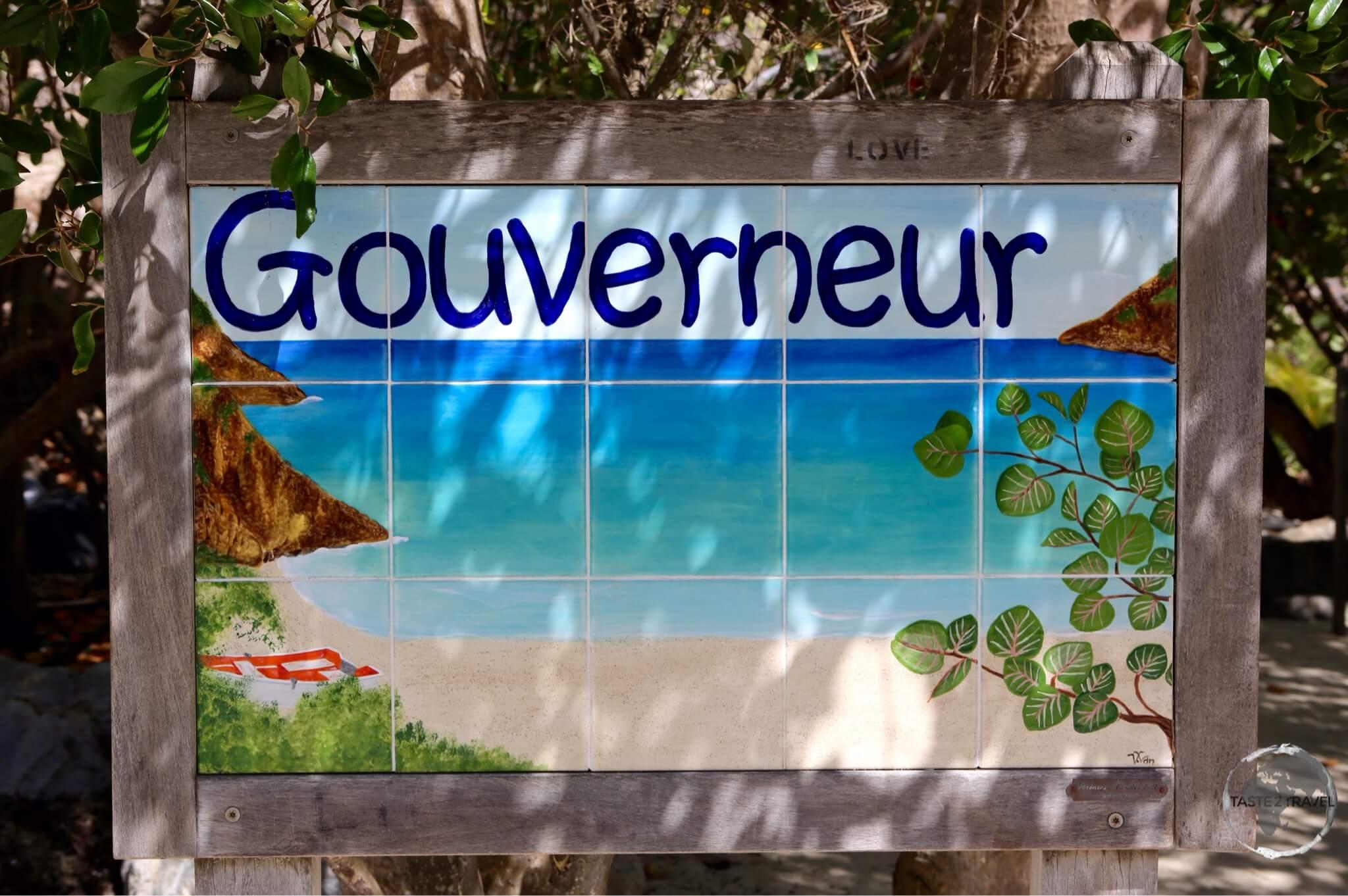 Entrance to Anse de Gouverneur beach.
