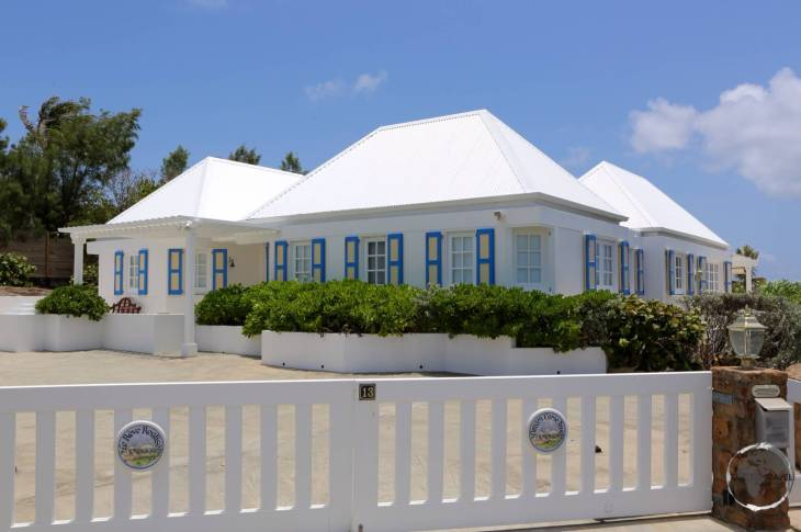 Typical accommodation on St. Barts - a deluxe villa.