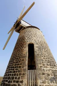 Antigua Travel Report: Old windmill at Betty's Hope Plantation