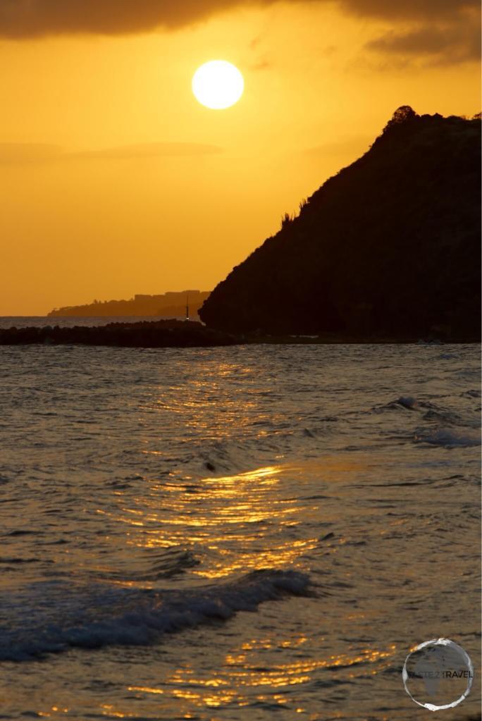 Sunset on St. Kitts.