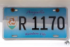 Anguilla License Plate
