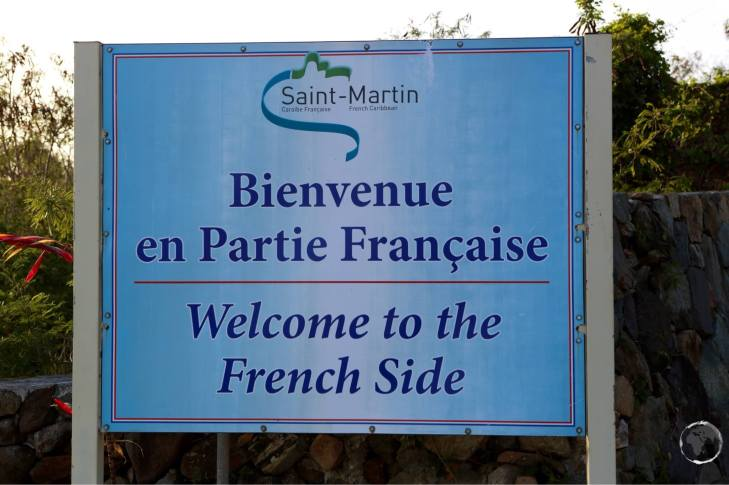 Entering the French side of the island.