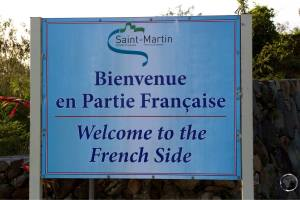 Entering the French side of the island