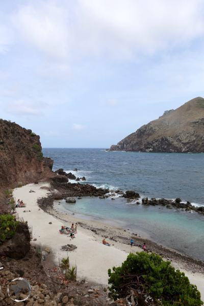 The only beach on Saba is man-made.
