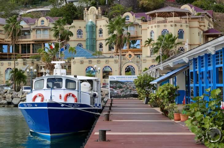 The Anguilla ferry docked at Marigot (St. Martin)