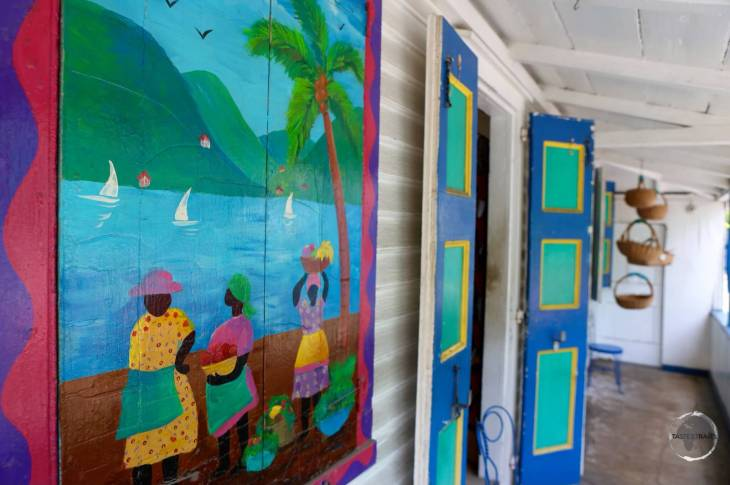 A colourful shopfront in Road Town, the capital of BVI.