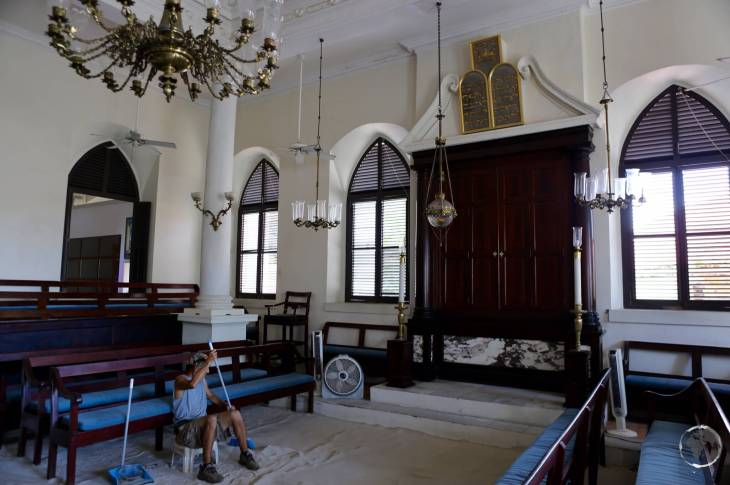 U.S. Virgin Islands Travel Guide: St. Thomas Synagogue in Charlotte Amalie is famous for it's sand floor