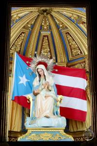 Religious artwork in San Juan