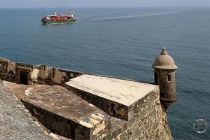 Castillo San Felipe del Morro guards the entrance to San Juan harbour.