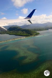 UA154 departing from Chuuk.