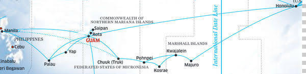 United Airlines Micronesia Routes