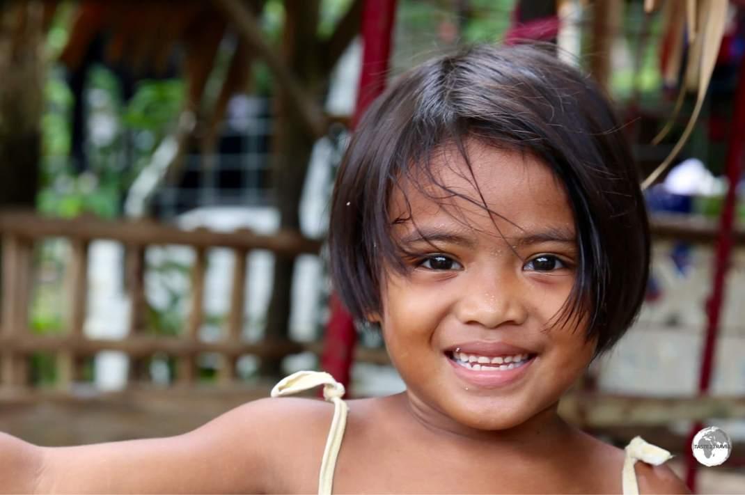 Smiling girl on Pohnpei.