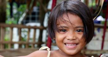 Smiling girl on Pohnpei.